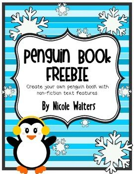 PENGUIN RESEARCH WITH NONFICTION TEXT FEATURES {FREEBIE} - TeachersPayTeachers.com