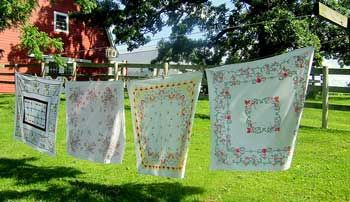 I really wish I had a clothesline and that all my laundry was this beautiful!  From http://www.front-porch-ideas-and-more.com/craftsman-farm-house.html