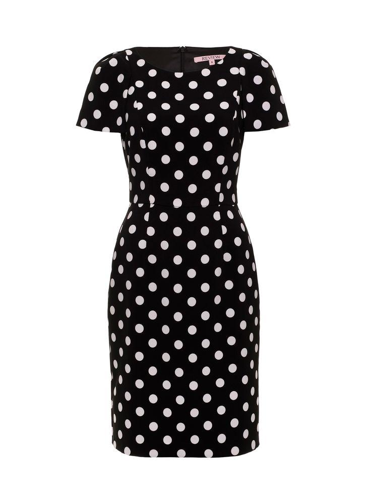 Seville Spot Dress | Black/Cream | Dresses