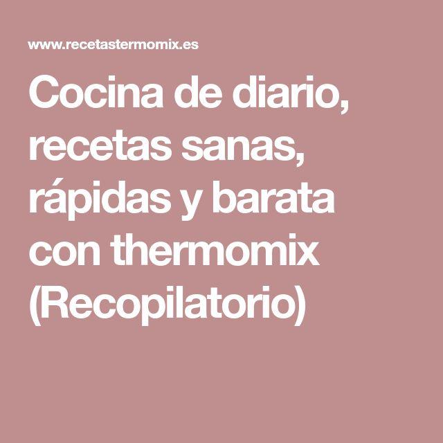 Cocina de diario, recetas sanas, rápidas y barata con thermomix (Recopilatorio)