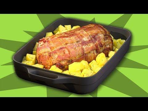 Hackbraten mit Bacon aus dem Backofen – ein Rezept für den nächsten Braten zum Mittagessen.