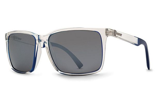 VonZipper - Lesmore Crystal Cobalt Rim COC Sunglasses, Grey Chrome Lenses