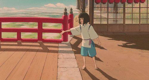 Spirited Away | Hayao Miyazaki | Studio Ghibli / Ogino Chihiro and Haku