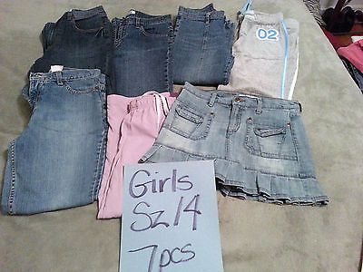 Bulk Lot Girls Clothing- Size 14-Seven Pieces-Bottoms Only - Popular Brands $17.50