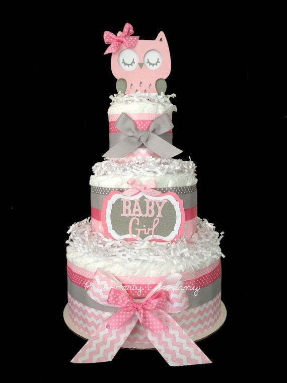 Hey, I found this really awesome Etsy listing at http://www.etsy.com/listing/160681131/chevron-pink-and-gray-owl-diaper-cake