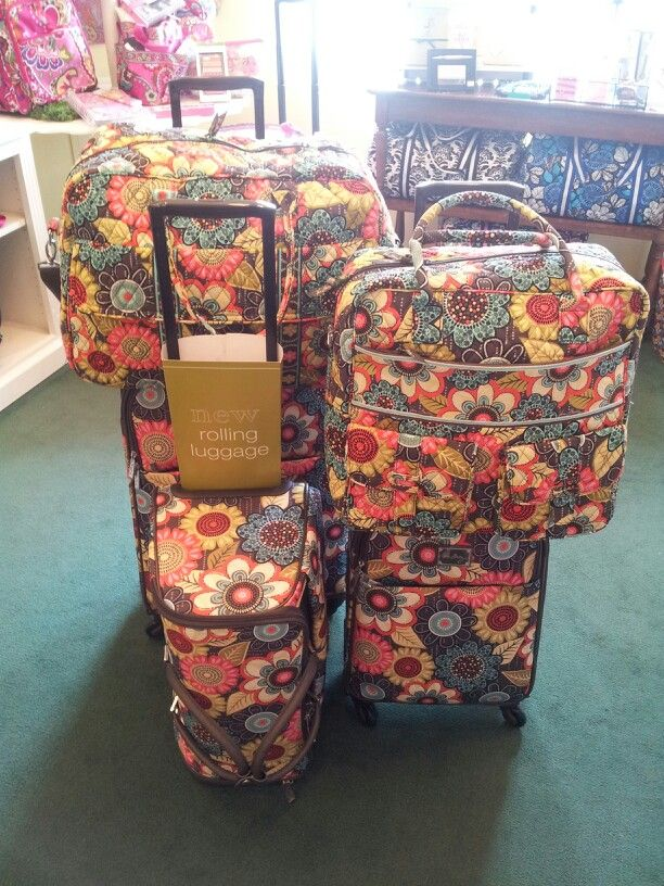 Vera bradley rolling luggage in quotflower showerquot it39s for Vera bradley bathroom bag