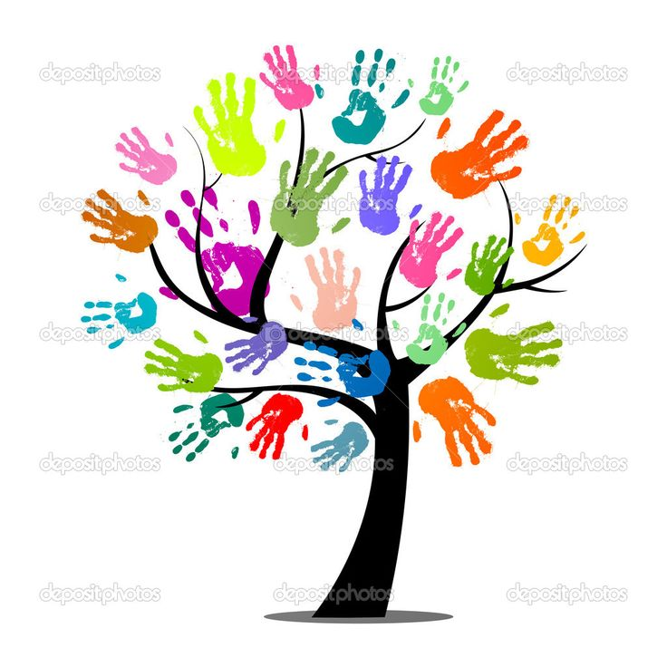 Vektor-Illustration einer abstrakten Struktur mit bunten Hand drucken