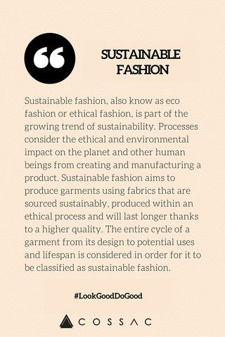 The Modern Girl's Eco Fashion Dictionary | COSSAC #ethicalfashion #sustainablefashion