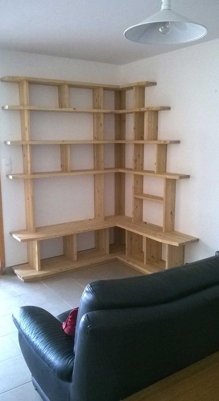 les 25 meilleures id es de la cat gorie bibliotheque angle sur pinterest etagere angle corner. Black Bedroom Furniture Sets. Home Design Ideas