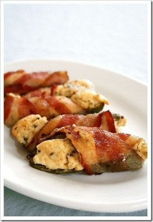 bacon wrapped cream cheese jalapeno bites. i'm drooling. by tabatha