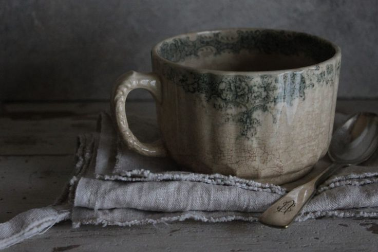 I love how the vintage cup has crazing on it - so well-used, well-loved. If it could speak to us, what would it say about all of the conversations held over it?