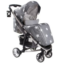 These pushchairs are great everyday pushchairs and really look super smart! Lightweight and so easy to push, even with one hand they have a large basket, padded seat insert cushion and are suitable from birth. The large extendable hood will keep your little one protected, be it from the sun, wind or rain. The MB100 pushchairs also come complete with handy cup holder, rain cover and a cosy footmuff!
