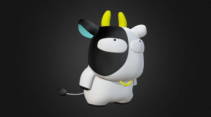 "Furyou-Cow From Japanese Manga&Anime : ""Goldfish Warning"" #3D #3DCG"