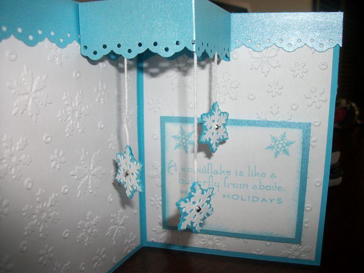 inside of Christmas snowflake card