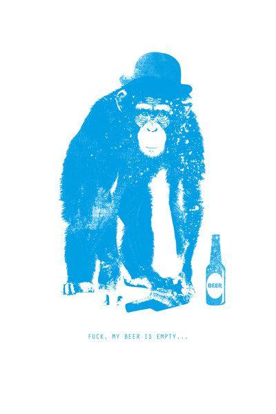 #Affe #monkey #Bier #beer #Stammtisch #Vatertag #Vatertagsgeschenk