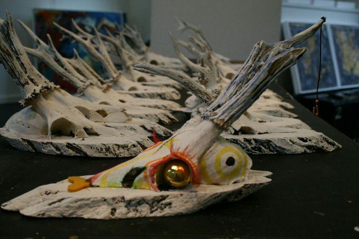 Veel kunstenaars deden mee aan Deer Oh Dear in 2008. Opbrengst naar Clini Clowns.