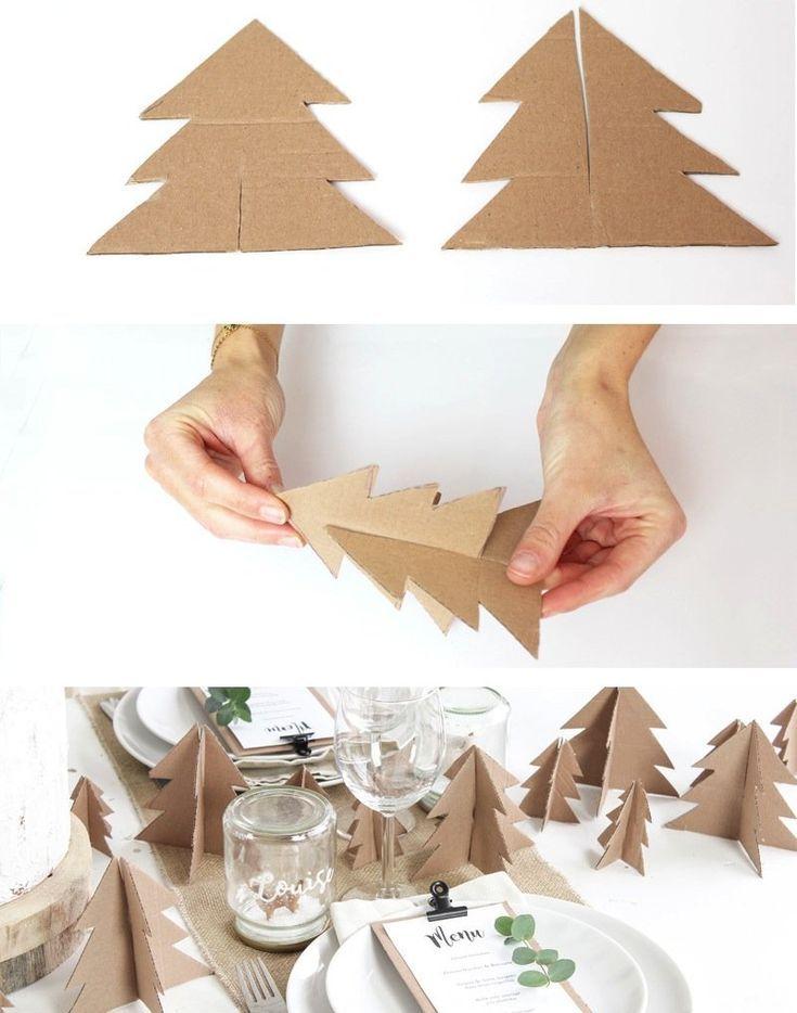 10 Diy To Make A Cardboard Tree Noel Elisleri Noel Celenkleri