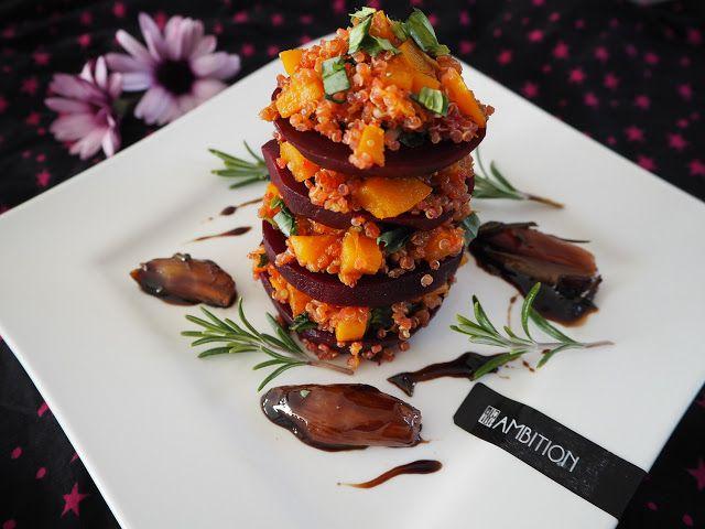 Smaki Francji Wspolczesna Kuchnia Francuska Millefeuille Z Buraczkow I Quinoa Z Karmelizowanym Cuisine Francaise Recette Vegetarienne Recette