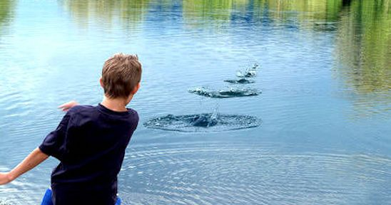 Stone Skipping (or stone skimming) is the art of throwing ...