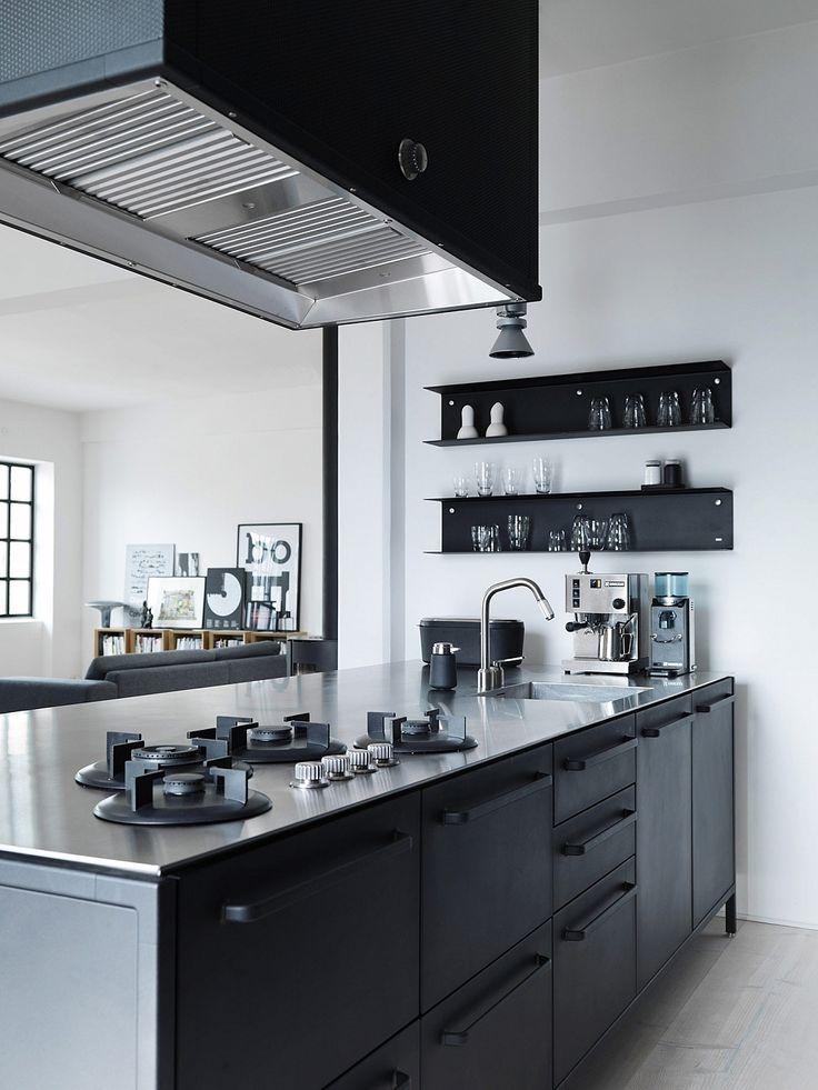 A Peek Inside The Home Of Designer Morten Bo Jensen. Black KitchensKitchen  ...