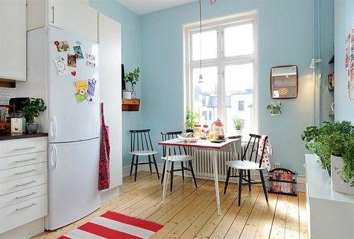 Кухня бело-голубая фото