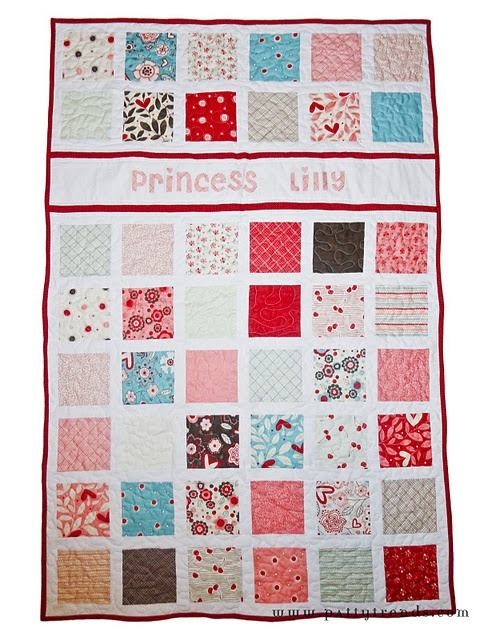 simple and cuteToddlers Quilt, Convertible Cribs, Charms Pack Quilt, Crib Quilts, Kids Quilt, Quilt Tutorials, Cribs Quilt, Quilt Pattern, Baby Quilt