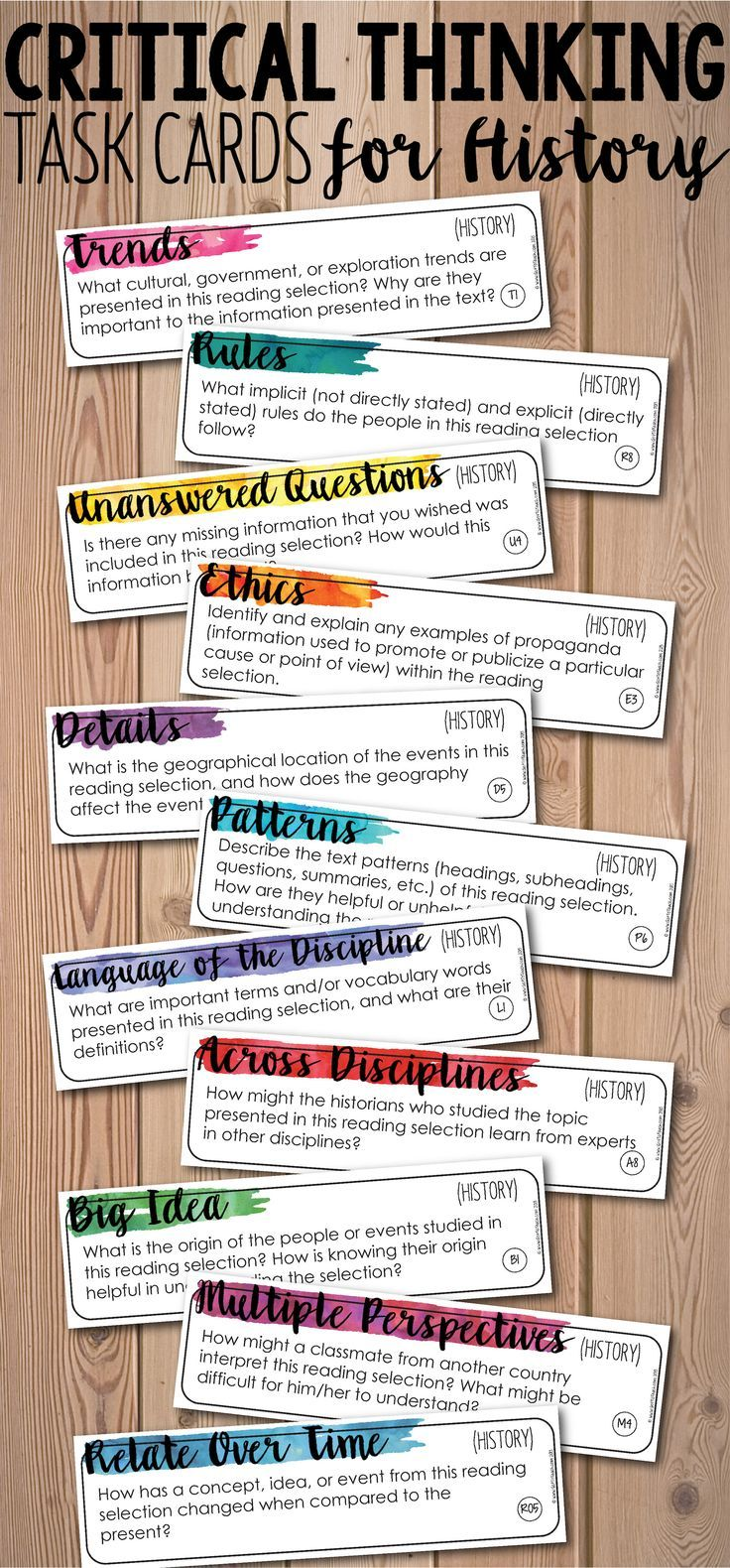 How does the study of history help to develop critical thinking skills