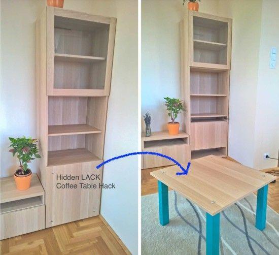Hidden Coffee Table Hack   IKEA Hackers