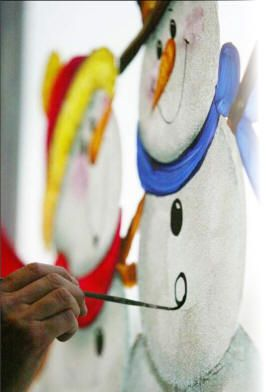 Window painting tips & Free e-book of snowman window painting ideas