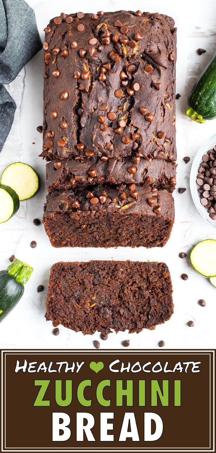 Double Chocolate Zucchini Bread Recipe Recipe In 2020 Healthy Chocolate Chocolate Zucchini Bread Healthy Chocolate Zucchini Bread