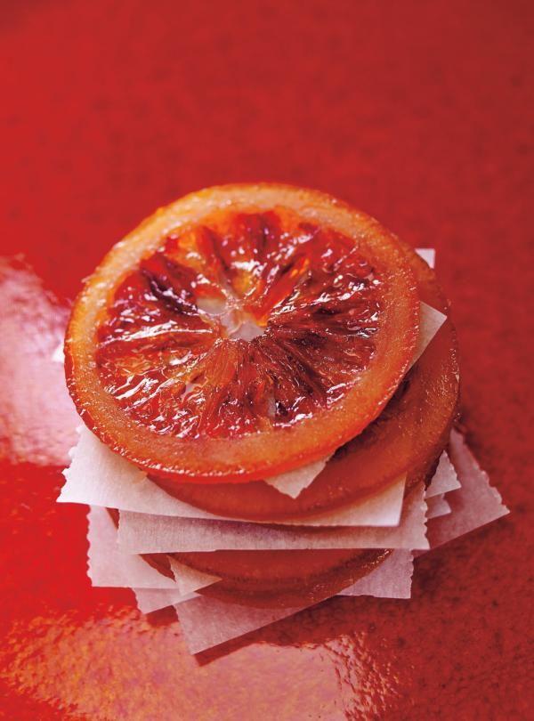 Recette de Ricardo d'oranges sanguines confites