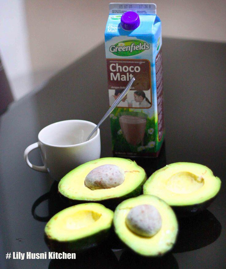 avocado choco milk