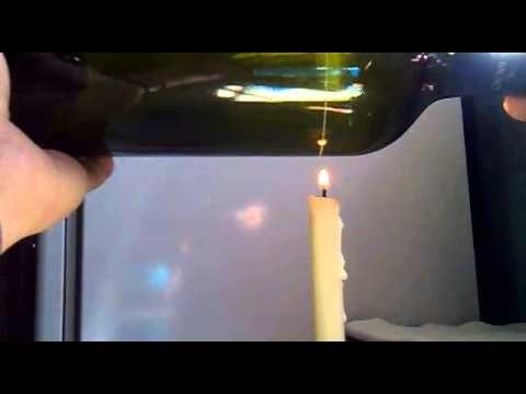 COMO CORTAR BOTELLAS DE VIDRIO, con diamante y una vela (es poco lento el proceso)
