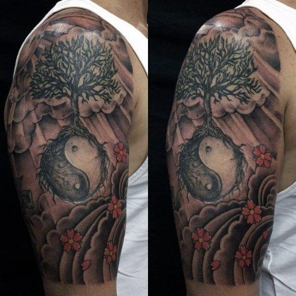 Bonsai Tattoo Meaning: 40 Best Bonsai Tree Ying Yang Tattoo Images On Pinterest