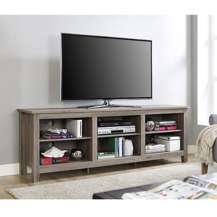 70 Essentials TV Stand Driftwood 15