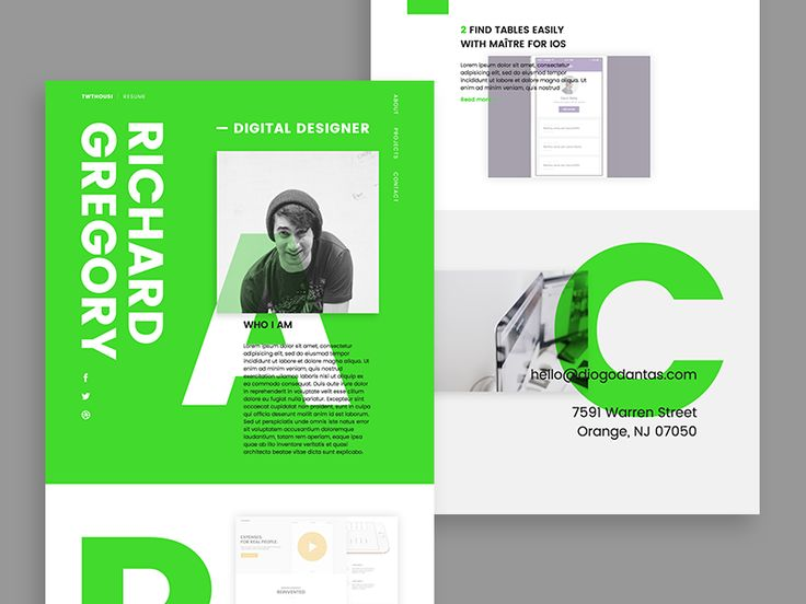 Personal Resume – WIP by Diogo Dantas