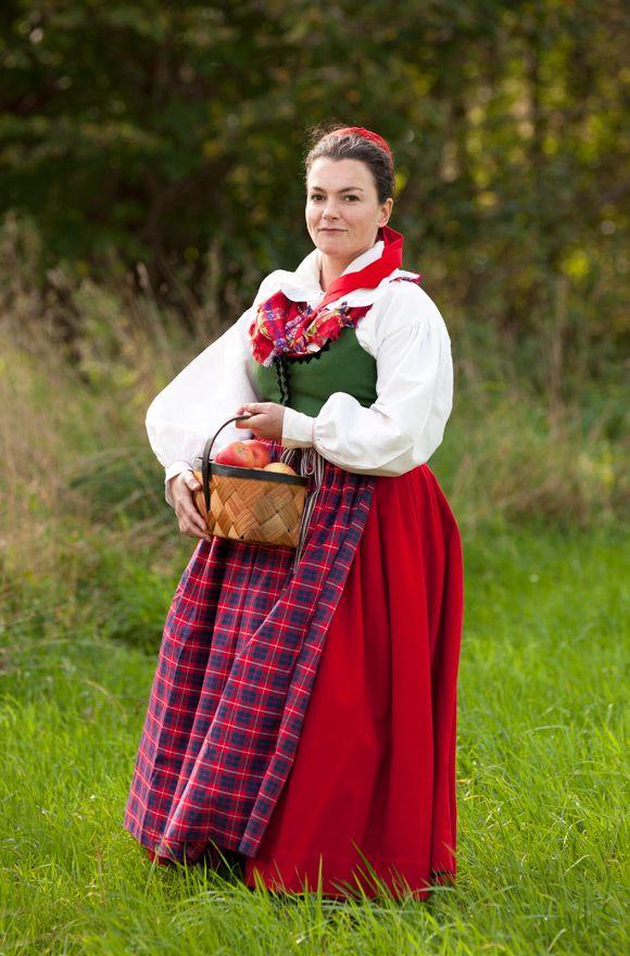 Folk dress of Scania province, Sweden. Laila-Duran