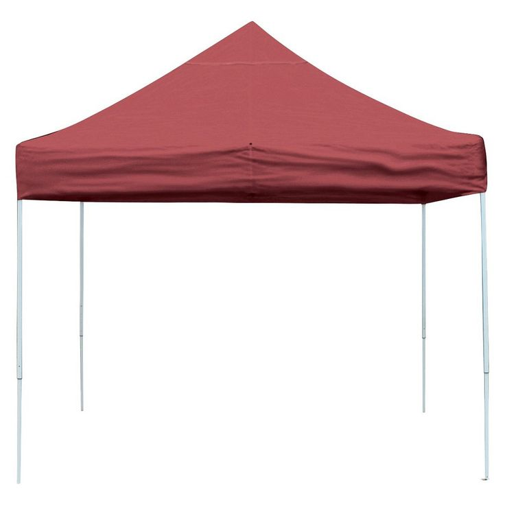 Shelter Logic 12' x 12' Pro Straight Leg Pop-Up Canopy - Red