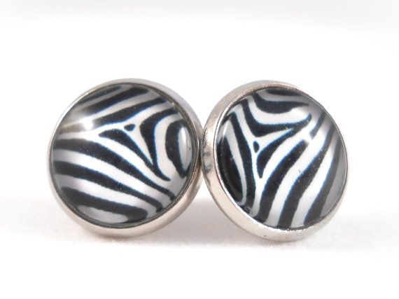 Teen Fashion Zebra Print Earrings Animal Print Earring Tween by foreverandrea, $12.00 Gift Ideas