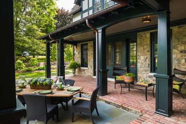 Dark Painted Porch Columns In The North⛰ Pinterest