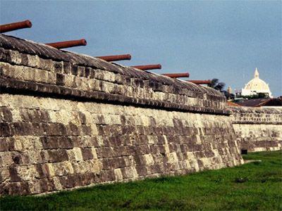 La muralla ou ciudad amurallada - Cartagena de Indias