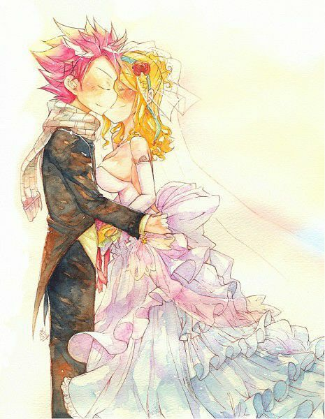 Natsu and Lucy's Wedding | Fairy tail pictures, Fairy tail ...