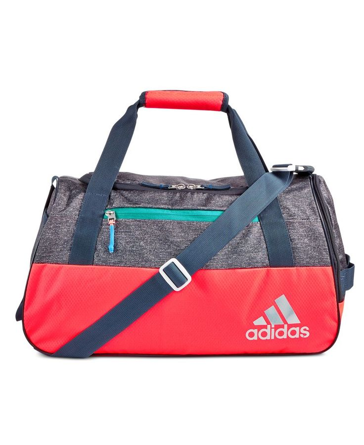 adidas elevates the gym bag to stylish with the fresh design of the Squad Iii duffel. | Polyester | Machine washable | Imported | Exterior features: front zip pocket; mesh water bottle pocket; adjusta