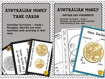 Australian Money Higher Order Thinking Bundle Grade 1 - This resource contains 2 of my Australian money products.You get (click on…