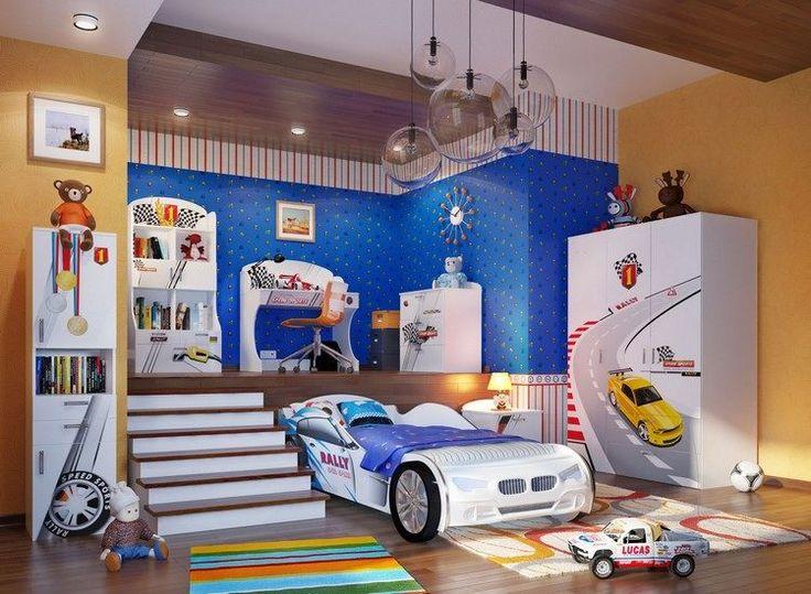 17 meilleures id es propos de lit voiture garcon sur pinterest lit de voiture de course for Chambre garcon voiture de course