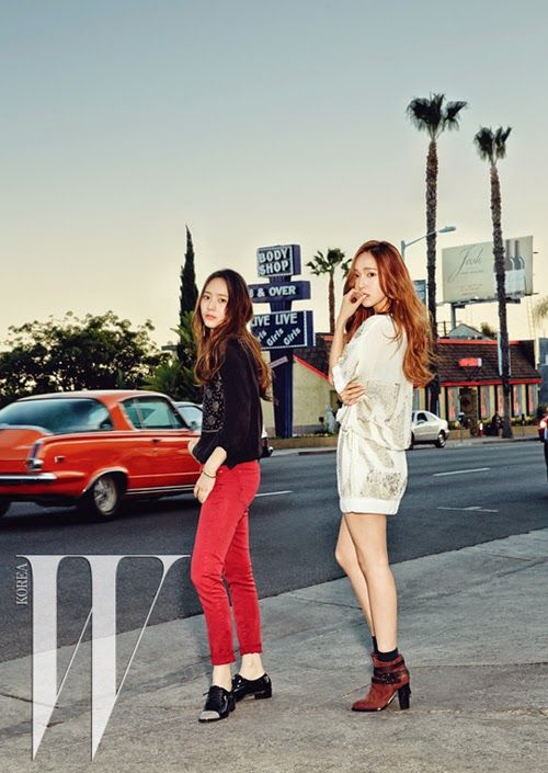 Jessica and Krystal in W Korea