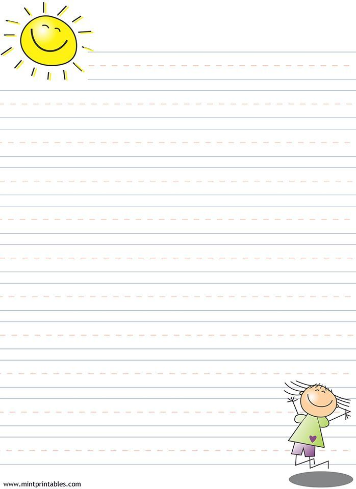 23 best Cute Writing Papers for Kids images on Pinterest Draw - lined pages for writing