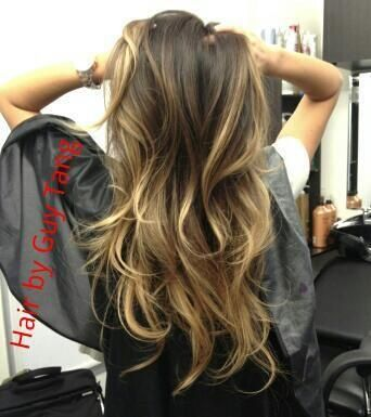 Example of Balayage. Remember, it's supposed to look natural, so you will probably only go 2-3 shades lighter than your natural color. sun-kissed appearance to your hair and is not as bold as foil highlights. Typically the bangs or hair framing ones face are highlighted in this process and gradually appear lighter at the ends