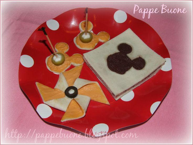 Idea buffet di compleanno: Tramezzini e tartine di Topolino   Pappe buone
