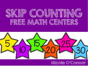 3 FREE skip counting math centers with exit slips!